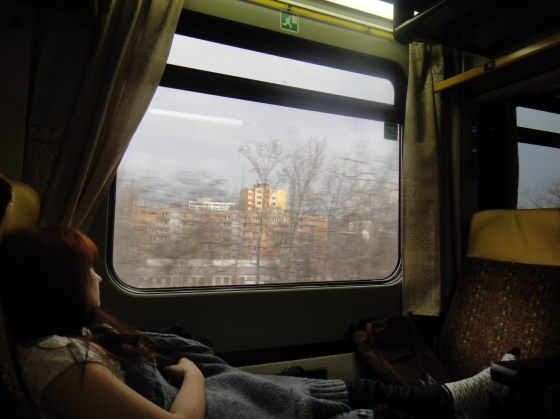 Train from Bratislava to Budapest